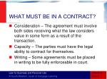 what must be in a contract3