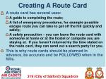 creating a route card