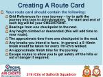 creating a route card1