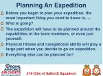 planning an expedition