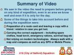 summary of video