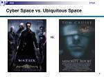 cyber space vs ubiquitous space