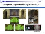 example of augmented reality primitive one