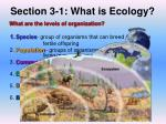 section 3 1 what is ecology2