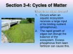 section 3 4 cycles of matter5