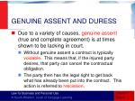 genuine assent and duress