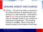 genuine assent and duress2