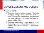 genuine assent and duress3