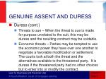 genuine assent and duress4