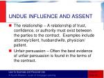 undue influence and assent1