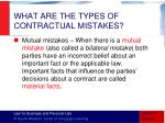 what are the types of contractual mistakes1