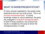 what is misrepresentation