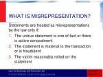 what is misrepresentation1