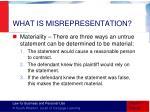 what is misrepresentation4