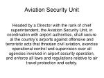 aviation security unit