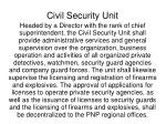 civil security unit