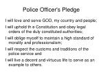 police officer s pledge
