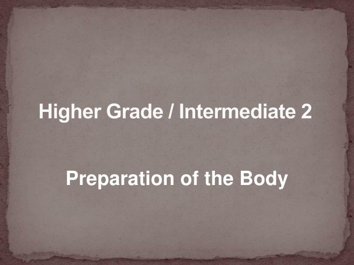 higher grade intermediate 2 n.