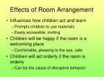 effects of room arrangement
