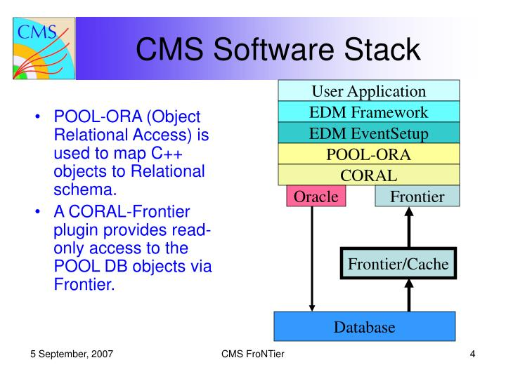 POOL-ORA (Object Relational Access) is used to map C++ objects to Relational schema.
