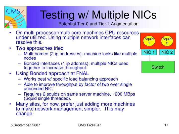Testing w/ Multiple NICs