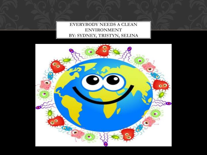 everybody needs a clean environment by sydney tristyn selina n.