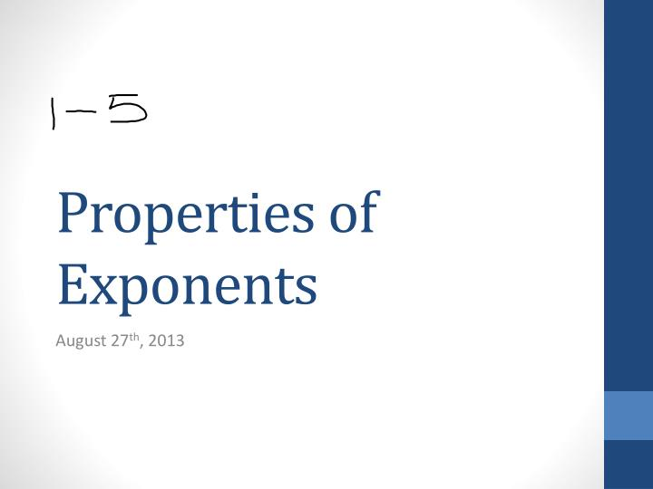 properties of exponents n.