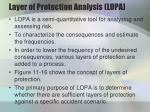 layer of protection analysis lopa