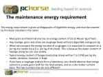 the maintenance energy requirement