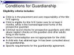 conditions for guardianship