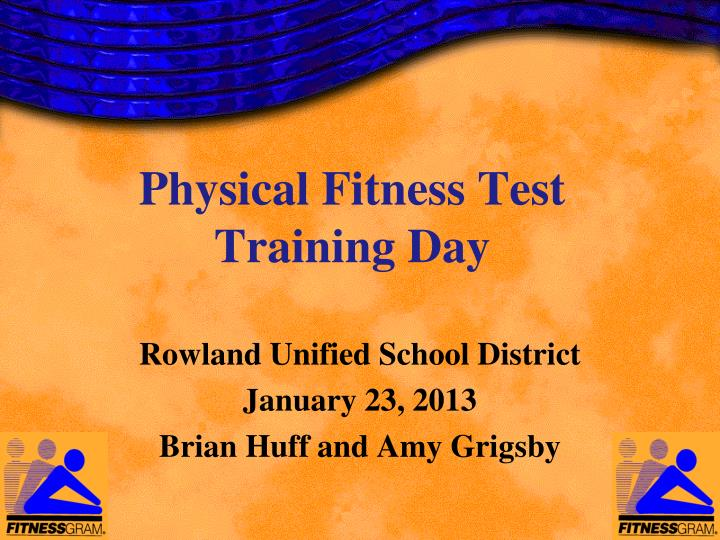 physical fitness test training day n.