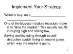 implement your strategy1