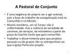 a pastoral de conjunto