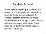 caridade pastoral