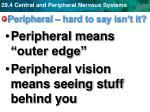 peripheral hard to say isn t it