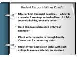 student responsibilities cont d