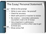 the essay personal statement