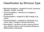 classification by stimulus type