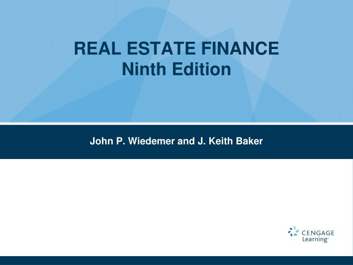 real estate finance ninth edition n.