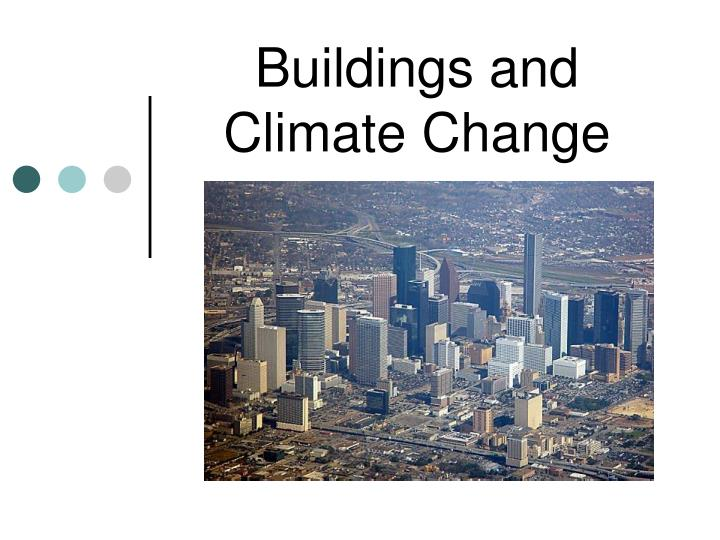 buildings and climate change n.