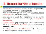 b humoral barriers to infection