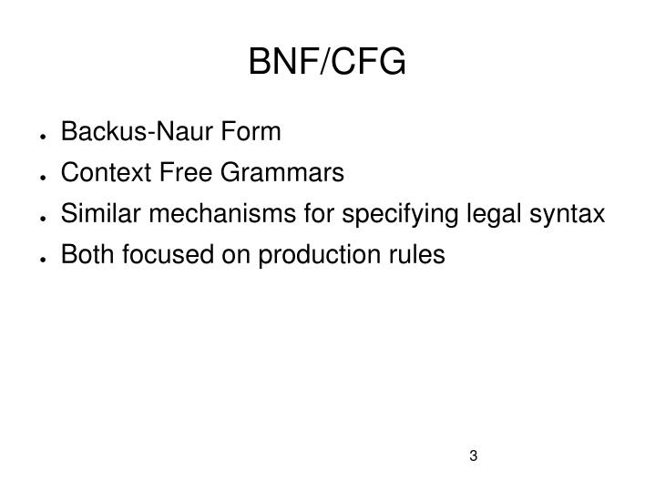 Bnf cfg
