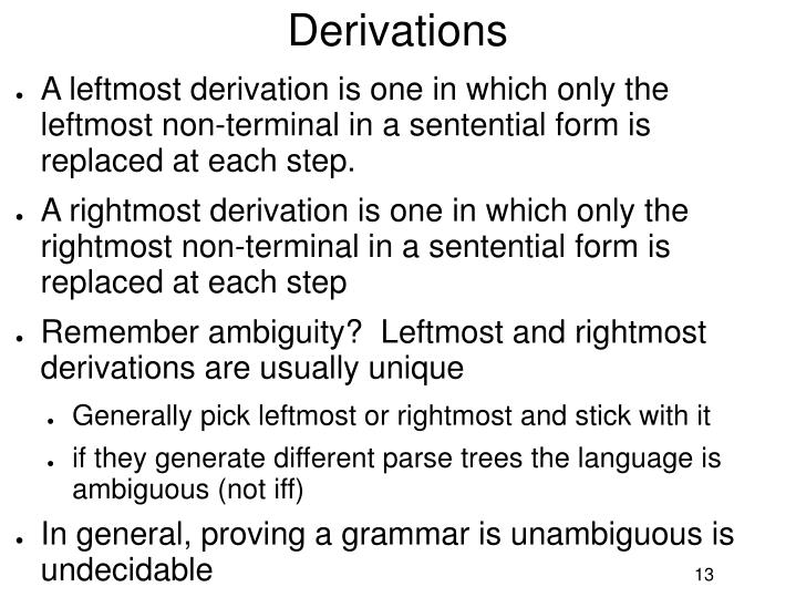 Derivations