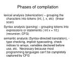 phases of compilation