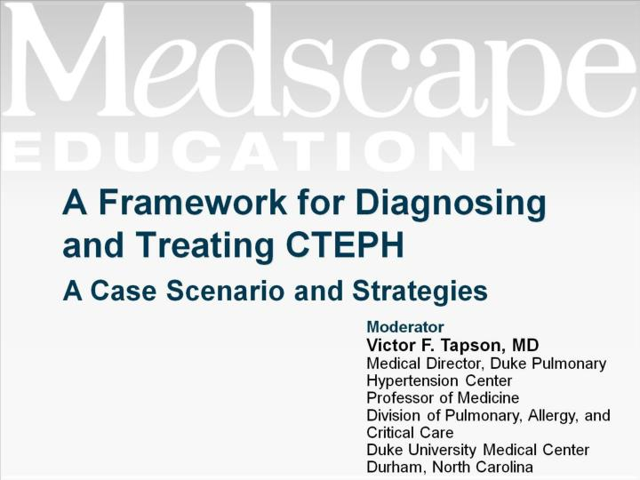 a framework for diagnosing and treating cteph n.