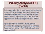industry analysis efe cont d