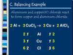 c balancing example