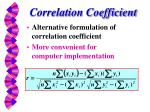 correlation coefficient1