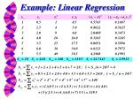 example linear regression