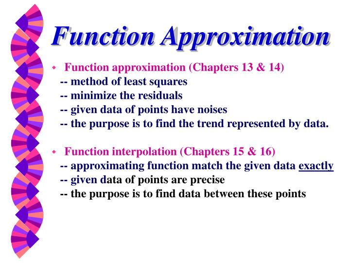 function approximation n.